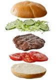 ингридиенты гамбургера домодельные Стоковая Фотография