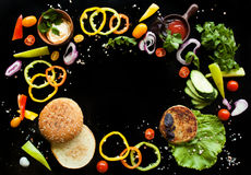 Ингридиенты для бургера Стоковое Изображение