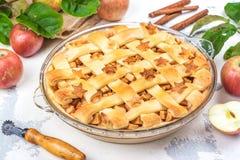 Ингридиенты для яблочного пирога Стоковые Изображения