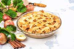 Ингридиенты для яблочного пирога Стоковая Фотография