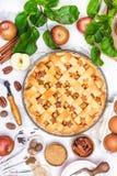 Ингридиенты для яблочного пирога Стоковые Фотографии RF