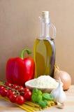 ингридиенты еды итальянские стоковые изображения