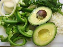 ингридиенты еды мексиканские Стоковая Фотография