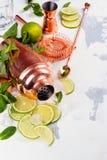 Ингридиенты коктеиля Mojito на белой каменной таблице Стоковые Фото