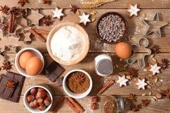Ингридиент выпечки для рождества стоковое фото