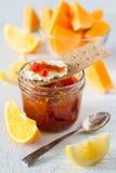 Ингридиенты варенья апельсина и тыквы Стоковое Фото