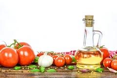ингридиенты еды итальянские стоковая фотография