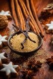 Ингридиенты и специи выпечки Стоковые Фото