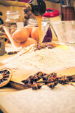Ингридиенты подготовленные для пряника рождества Стоковое Изображение