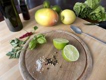 Ингридиенты салата Romaine Стоковое Изображение RF