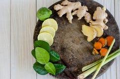 Ингридиенты тайской пряной еды, Tom yum Стоковое Фото