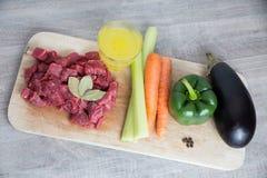 Ингридиенты тушёного мяса Стоковое Изображение