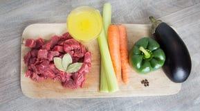 Ингридиенты тушёного мяса Стоковые Фото