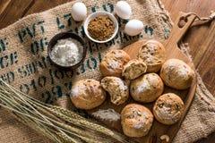 Ингридиенты хлеба Стоковые Фото