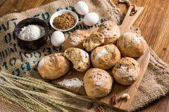 Ингридиенты хлеба Стоковые Изображения RF