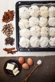 Ингридиенты для варить пирог пасхи Стоковое Фото