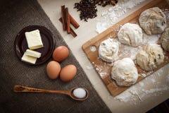 Ингридиенты для варить пирог пасхи Стоковые Фото
