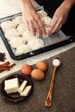 Ингридиенты для варить пирог пасхи Стоковые Фотографии RF