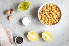 Ингридиенты для варить hummus Стоковые Фото