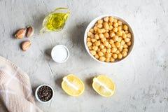 Ингридиенты для варить hummus Стоковое Фото
