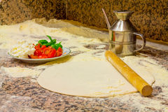 Ингридиенты для делают пиццу стоковое изображение