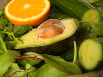 Ингридиенты для зеленого smoothie стоковое фото rf