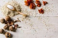 Ингридиенты для диетических печений овсяной каши рецепта Стоковые Фотографии RF
