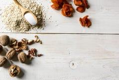 Ингридиенты для диетических печений овсяной каши рецепта Стоковое Фото