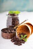 Ингридиенты для мороженого кофе шоколада Стоковое Изображение RF