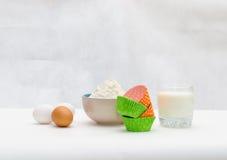 Ингридиенты для печь пирожного Стоковое Изображение RF
