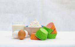 Ингридиенты для печь пирожного Стоковое Фото