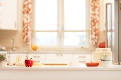 Ингридиенты для пиццы на таблице Стоковая Фотография