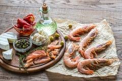 Ингридиенты для среднеземноморского диетпитания Стоковая Фотография RF