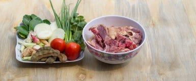 Ингридиенты для супа утки Стоковая Фотография