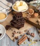 Ингридиенты для торта какао Стоковое фото RF