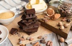 Ингридиенты для торта какао Стоковое Изображение RF