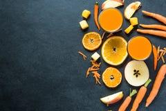 Ингридиенты smoothie здорового питания, предпосылка еды Стоковое Фото