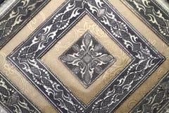 Индеец/предпосылка резного изображения металла арабескы - золотая Стоковые Изображения RF