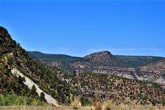 Индейская резервация San Carlos апаша, Gila County, Аризона, Соединенные Штаты стоковое изображение