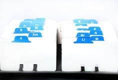 индекс визитных карточек стоковое изображение