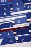 индекс владельец карточки дела Стоковые Фотографии RF