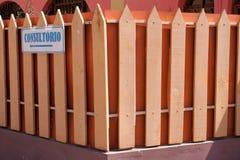 индекс загородки деревянный Стоковое фото RF