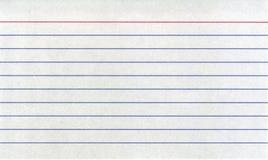 индекс карточки Стоковое Изображение