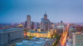 Индианаполис, Индиана, горизонт США городской сток-видео