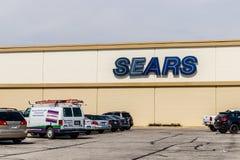 Индианаполис - около апрель 2018: Положение розницы Sears Согласно удерживаниям Sears, это положение будет закрывано III Стоковая Фотография