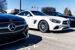 Индианаполис - около март 2018: Дилерские полномочия II Мерседес-Benz Стоковое Изображение RF