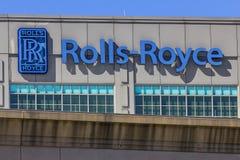 Индианаполис - около сентябрь 2017: Завод IX турбины двигателя Rolls Royce космический Стоковое Фото