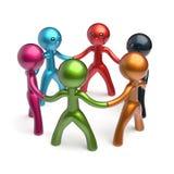 Индивидуальность круга человека сыгранности, сеть HR людей социальная иллюстрация штока