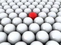 индивидуальность одна красная сфера иллюстрация вектора