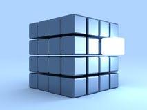 индивидуальность одно кубика принципиальной схемы светя иллюстрация вектора
